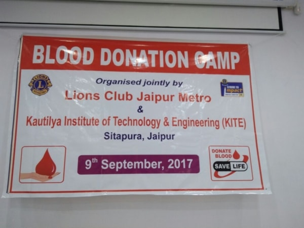 Blood donation Camp on 09.09.2017 2